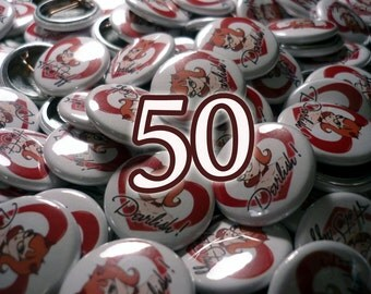 50 Custom 1 Inch Pin-Back Buttons