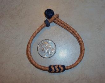 Kangaroo leather Western bracelet