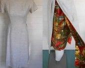 vintage 60s simple but stunning dress patterned peekaboo underlay