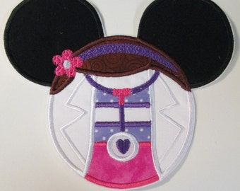 Iron On Applique - Mouse Head Doctor