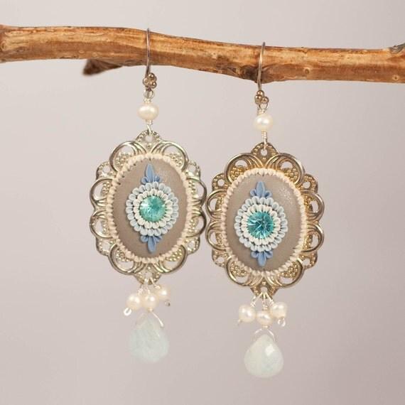 frozen dewdrops - sweet dangling earrings