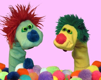 Classic Sock Puppets 2 for 30. You Choose Colors