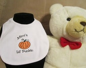 Embroidered Baby Bib- Mimi's Lil Punkin- Fall