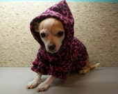 Doggie Fleece Hoodie Made to Order XS S M