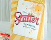 Handmade You Skatter Sunshine Card