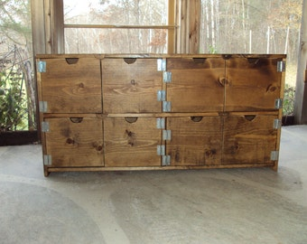 Reclaimed Wood look Dresser Old Barn Wood Look 48 wide  TV Cabinet Entertainment Center bookcase Primitive Storage Bench Buffet mini bar