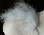 Marabou Feathers 150 - 200 pieces .5 oz in White for Bridal, Headbands, Flapper, Masks, Costumes