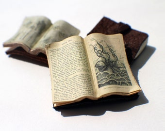 Miniature Open Book --- Sea Monster