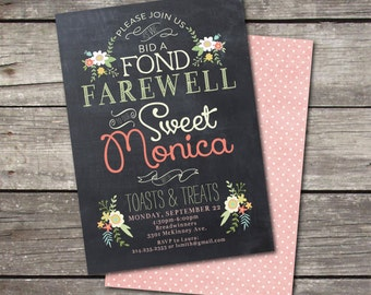 PRINTABLE Vintage Chalkboard Farewell Party Invitation