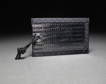 Carbon Fiber Luggage Tag - Black