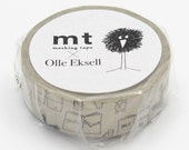 New -mt washi masking tape - designer collection - mt x Olle Eksell - notebook