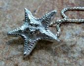 Fine silver Starfish sea star pendant