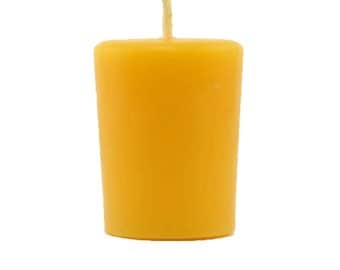 Set of 8 Organically Managed Beeswax Candle Votives