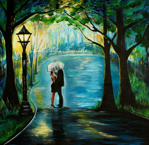 Original Acrylic Painting Couple My Soul Mate