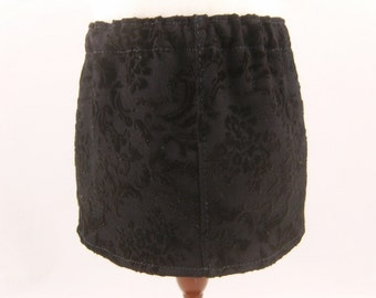 REDUCED 18 Inch Doll Clothes Black Flocked Straight Mini Skirt Girls Toy