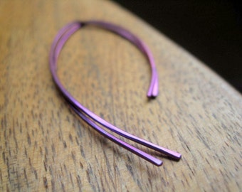 purple earrings. hypoallergenic jewelry. niobium earwires. modern splurge.