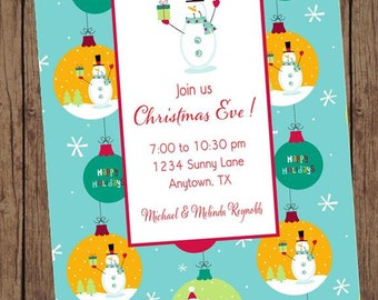 Holiday Christmas Invitation - 1.00 each with envelope