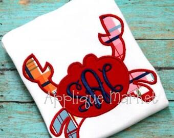 Machine Embroidery Design Applique Crab INSTANT DOWNLOAD