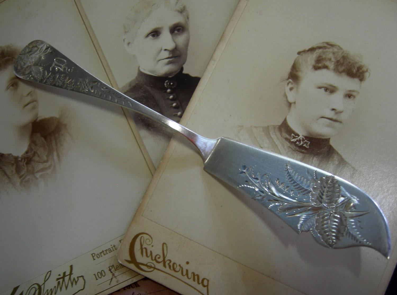 Wedding Gift Knife Penny : Antique Sterling Silver Fish Knife Serving by Vintageartshome
