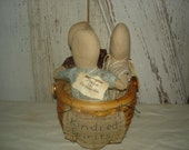 Primitive Kindred Spirits Dolls in Basket, Primitive, Rustic, Dolls, Ofg Team, Faap Team, Hafair, ATGOFG