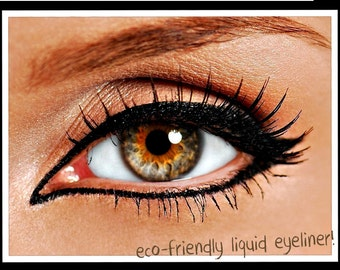 Liquid Mineral Eyeliner with Felt Tip Applicator  in INTENSE BLACK  easy to use Organic ingredients