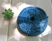 Denim Blue: Natural Cabuya Cactus Plant Fiber, 2mm x 10ft bundle / Organic Thread, Natural Dyed Fiber, Pique Plant, Agave / Jewelry Supplies