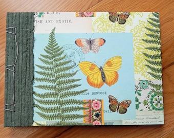 Ferns and Butterflies Album - Botanical Design with Dutch binding