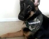 Dog Bandana - Custom - Dog Name - Working Dog - 30 X 15 Embroidery - Monogram - Pets -