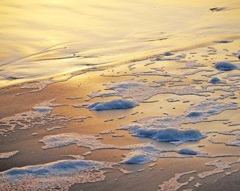 Seafoam, Yachats Oregon Coast, Digital Photographic Print, 13x19