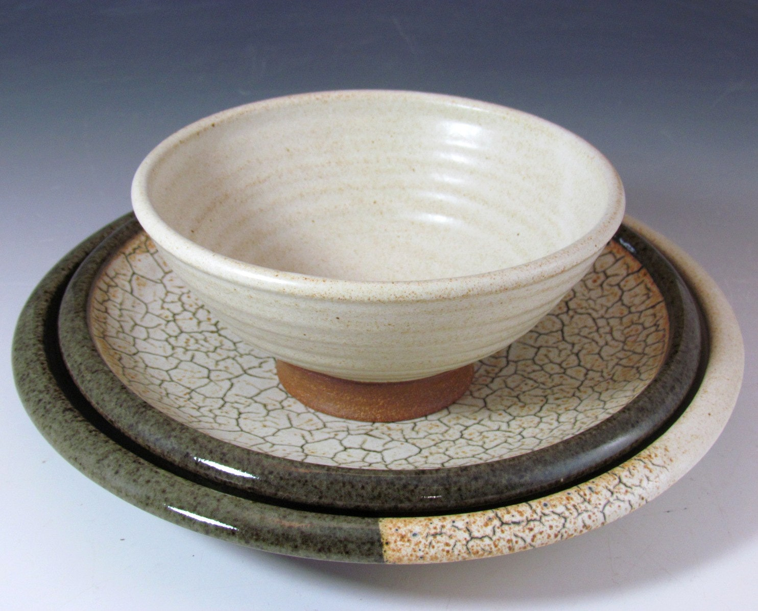 handmade stoneware dinnerware sets stoneware dinnerware set handmade for your wedding by 5571