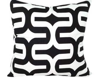Premier Prints Embrace Black and White Geometric Decorative Throw Pillow - Free Shipping