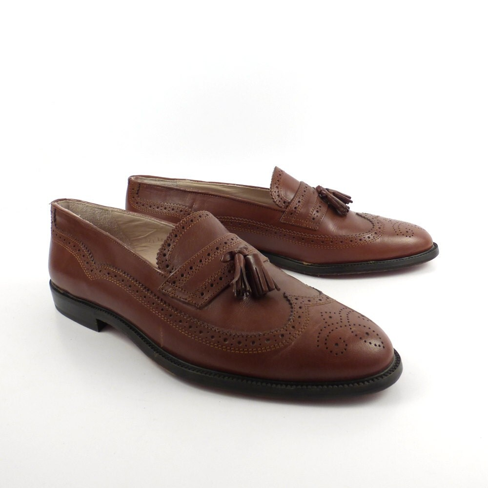 d nerini loafers brown vintage 1990s leather shoes s