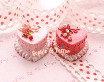 Beautiful Pink Deco Sweets Cake Resin Cabochon - 10pc