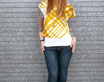 Off the Shoulder Open Back Cap Sleeve Crop Top Shirt|Vintage Shirt|Retro Shirt|Striped Top|Plaid Shirt|Layering Top|Printed Top|Casual Top|