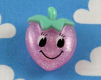 Kawaii Brooch Pin - Happy Strawberry