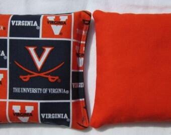 Set of 8 University of Virginia Cavaliers Cornhole Bags -FREE SHIPPING - Baggo Bean Bag Set