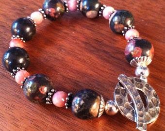 Ocean Jasper & Sterling Silver Bracelet