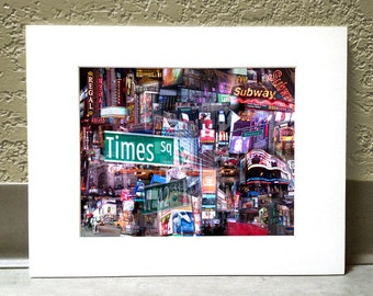 The Crossroads of the World 11 x 14 Matted Print - Times Square, New York City, NY