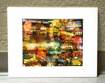 State Fair After Dark 16 x 20 Matted Print - Minnesota State Fair