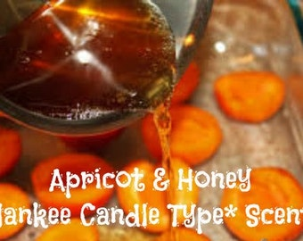 APRiCOT & HONEY Scented Soy Wax Melts -Yankee Candle Type* Scent -  Soy Wax Tarts - Wickless Candles - Highly Scented - Hand Poured In USA