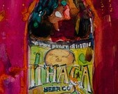 Ithaca Beer Co. Beer Art Print  from Original Watercolor Painting great for College Dorm or Man Cave