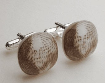 George Washington Cufflinks - Fused glass