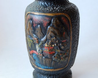 Vintage Tokanabe Vase, Made in Japan, Dimensional, Home Decor