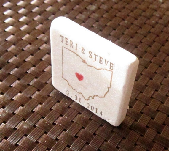 Ohio State Outline Save the Date Magnets, Wedding Favors, Set of 25