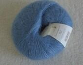 Mohair Silk Yarn in Blue Kidsilk Haze