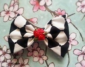 Alice in Wonderland Fabric Bow