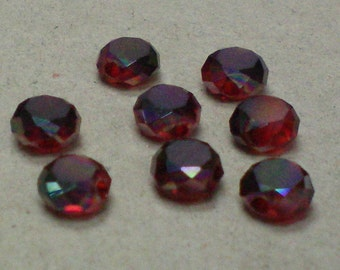 Faceted Deep Red Beads