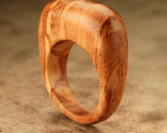 Size 10.75 - Bethlehem Olive Wood Ring No. 15