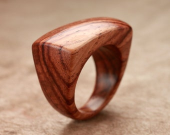 Size 8.25 - Honduran Rosewood Dome Top Ring