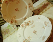 GORGEOUS - LIMOGES - Porcelain Luncheon Plates - Desert Plates- Floral Pattern - Ornate -Set of 4 - Made in France-  So Charming